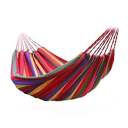 ZZXXYY Hammocks 280 * 80 cm Outdoor Picnic Garden Hammock Hammock Appeso Doppio Spreader Canvas Hammocks Bar Giardino Swing Hanging (Color : 01)