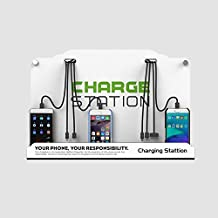 New Universal Charging Station - Wall Mount/Table Top Universal Cell Phone Charging Station for Family/Business / Public Community