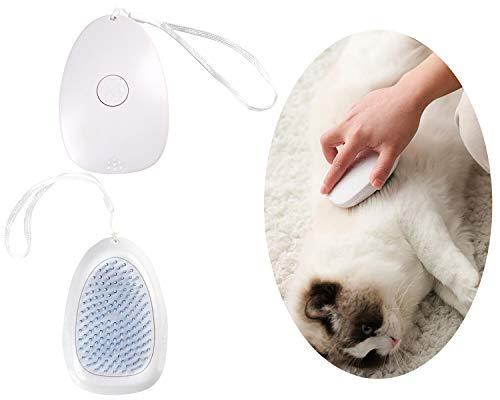 QIMMU Unterhaarbürste Katze, unterfellkamm, Selbstreinigende Hundebürste Katzenbürste Haustierkamm Hundekamm, Katzenbürste mit Schutznoppen für Langes und Kurzes Haar