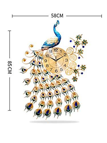 Paon Horloge Créative Horloge Murale Salon Chinois Vent Ménage Mur Montre Moderne Simple Personnalité Atmosphère Tranquille Horloge À Quartz