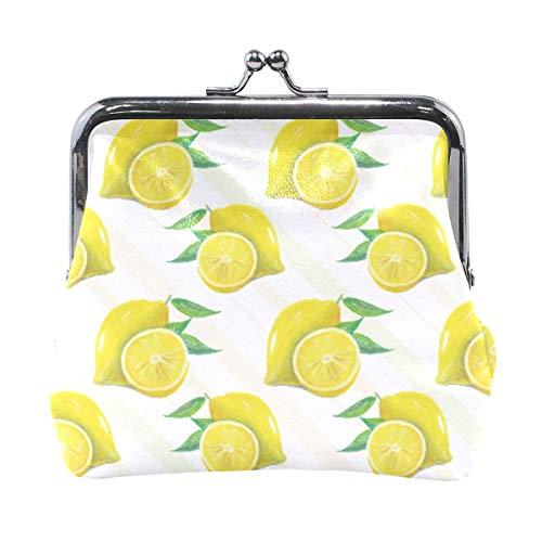 Brieftasche Sommer Obst Zitrone Schnittmuster Münzgeldbörse Beutel Leder Wechselhalter Karte Clutch Handtasche