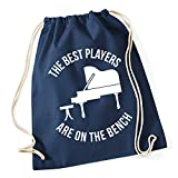 Hippowarehouse The Best Players Are On The Bench - Piano Drawstring Cotton School Gym Bag 37cm x 46cm, 12 litres