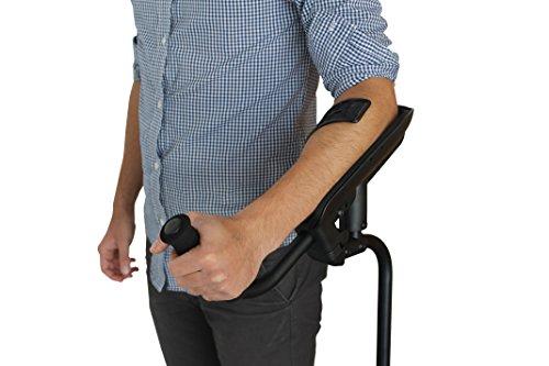 KMINA PRO - Muletas Adulto (1 unidad), Muletas Adulto Regulables Aluminio, Muletas Ortopédicas, Muletas Ergonómicas, Muletas para Caminar, Muletas Adulto Acolchadas, Muleta Izquierda.