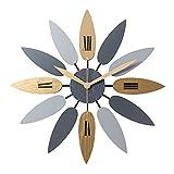G-X Reloj de Pared de Arte Grande, Hoja de Pared Grande Creativa de la Pared...