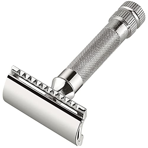 Merkur Mk34c Double Edge Razor with Heavy Duty Short Handle