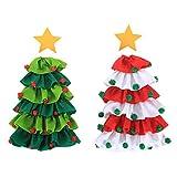 Unknow Bolsas para Botellas de Vino de Navidad, 2 Piezas, para Decoraciones de Fiesta del Festival de Navidad, Lindo Conjunto de Botella de árbol de Navidad, 20 * 25 cm