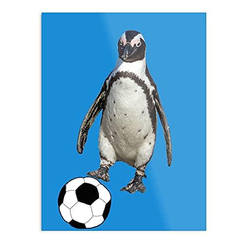 Póster moderno de Penguin Soccer Ball – Póster moderno Typographic Girl Boss Office Decor Motivational Poster Dorm Room Wall