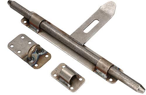 KOTARBAU® Pestillo para puerta, 340 mm, pestillo de perno, cerrojo de hierro forjado, para pintar o soldar