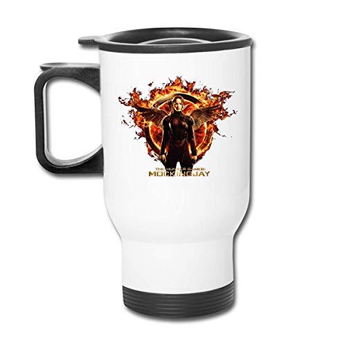 Botella de agua de acero inoxidable con aislamiento al vacío The Hunger Games Sinsajo Moive, taza de viaje esmerilada para bebidas calientes y frías, café o té