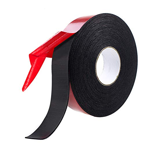 PE Foam Double Sided Adhesive Tape -Outdoor and Indoor Super Strong Foam Seal Strip for Automotive Mounting?Weatherproof Decorative and Trim?Car Trim Strip?Photo Frame (Wide 2 in Long 33 Ft)