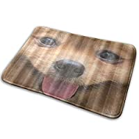 NIESIKKLA バスマット、かわいい子犬ポメラニアン犬かわいいペット、マット滑り止め ソフトタッチ 丸洗い 洗濯 台所 脱衣場 キッチン 玄関やわらかマット 40x 60cm