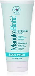 Manuka Biotic - Best Antibacterial Body Wash formula for Skin Irritations. Infused with Antibacterial, Anti-Inflammatory, Anti-Fungal Manuka Oil. (200ml)
