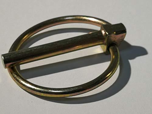 2 unidades de pasador plegable – DIN 11023 Longitud 42 mm, diámetro de anillo 41 mm