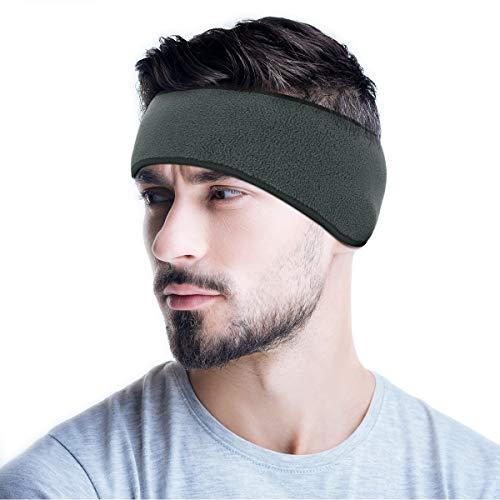 Headband Cycling Running Ear Warmer Muffs Winter Windproof Fleece Ear Cover (Grey)…