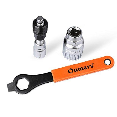 Oumers Professional Bike Bicicletta Ciclo estrattore pedivella,Dispositivo di rimozione del Braccio e Dispositivo di rimozione del Braccio Inferiore con Chiave/Chiave da 16 mm