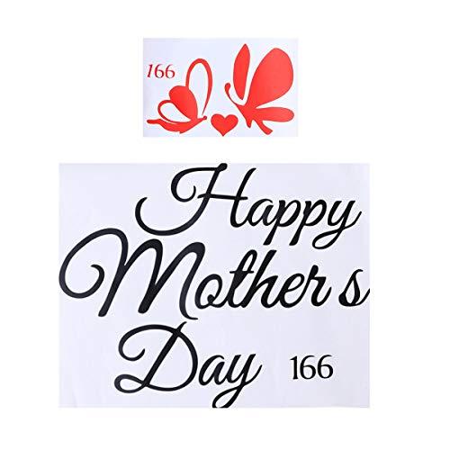 Amosfun Etiquetas engomadas Felices del día de la Madre Etiquetas Autoadhesivas de la Etiqueta engomada del Globo Calcomanías Decoración del Partido