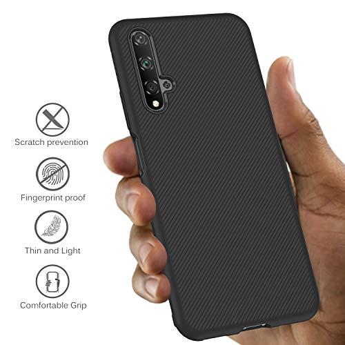 iBetter für Honor 20 Hülle, für Huawei Nova 5T Hülle, Ultra Thin Tasche Cover Silikon Handyhülle Stoßfest Case Schutzhülle Shock Absorption Backcover Hüllen passt für Honor 20 Smartphone (Schwarz) - 3