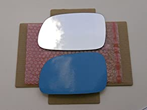New Replacement Mirror Glass with FULL SIZE ADHESIVE for 99-04 JEEP GRAND CHEROKEE Driver Side View Left LH