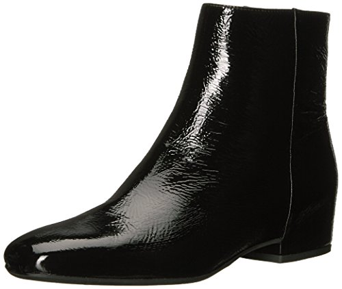 Aquatalia Women's ULYSSAA Naplak Ankle Boot, Black, 7.5 M US