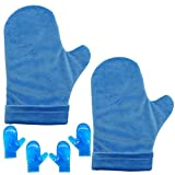 Hot and Cold Hand Therapy Gloves, Hand Ice Pack, Ice and Heat Therapy Pain Relieving Mittens | Microwavable and Freezable, Arthritis, Finger and Hand Injuries, and Carpal Tunnel (Type1) (Pink)