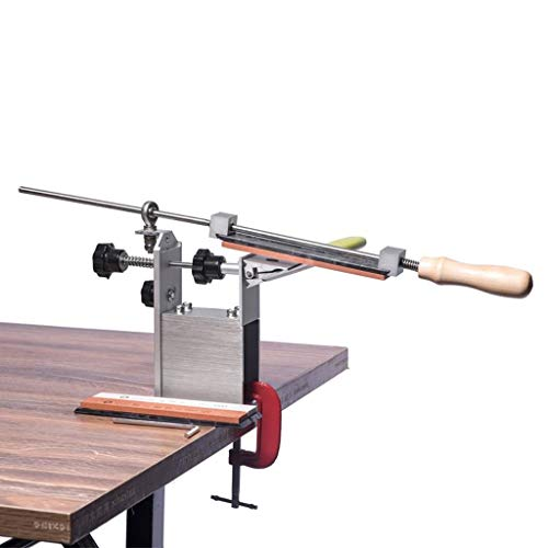DYW Sacapuntas de Cocina Afilador de Cuchillos Profesional 3 Piedra de afilar Portátil Más Reciente Rotación de 360 Grados Ángulo Fijo Apex Edge Seguro Fácil de Usar