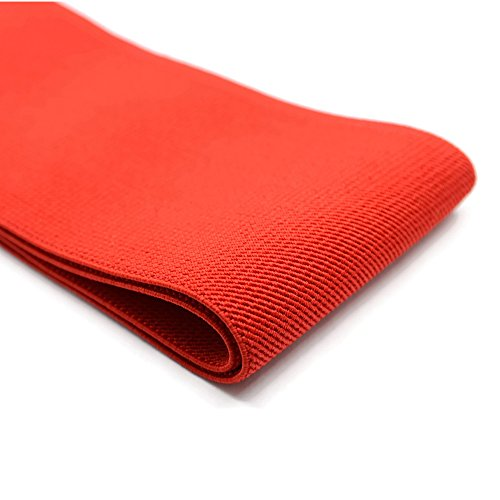iCraft 4-inch Wide by 2-Yard Colored Double-Side Twill Elastic Bands (Red) 73150