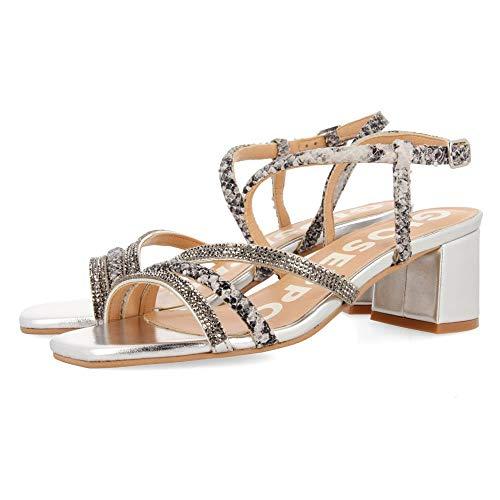 Gioseppo Belk, Zapatos de tacón con Punta Abierta Mujer, Gris (Plomo Plomo), 37 EU