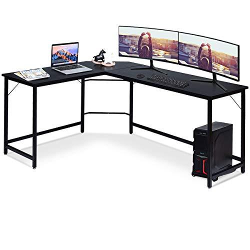 COSTWAY Computertisch L-Form, Eckschreibtisch, Schreibtisch PC-Tisch Computerschreibtisch Bürotisch...