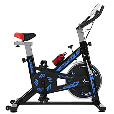 Tengma Indoor Cycling Bike, Belt Drive Indoor Exercise Bike,Stationary Bike LCD Display for Home Gym Fitness Cardio Workout Bike Training Adjustable US