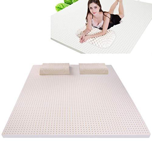 DYRJ corrector, latex matras, 120 x 200 cm, hoogte 5 cm, natuur, 100% ademende matras, medisch hulpmiddel van geheugenschuim, visco-elastisch, matras van natuurlatex