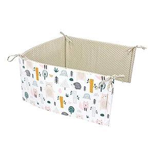 TupTam Protector para Cama de Bebé, Bosque Animales, 180×30 cm (Cuna 120×60 cm)