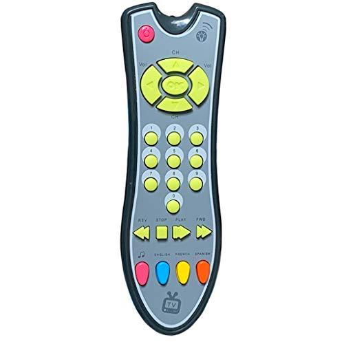Mando a distancia para TV del bebé, juguete realista, mando a distancia con luz y sonido, juguete musical para aprender temprano, juguete realista