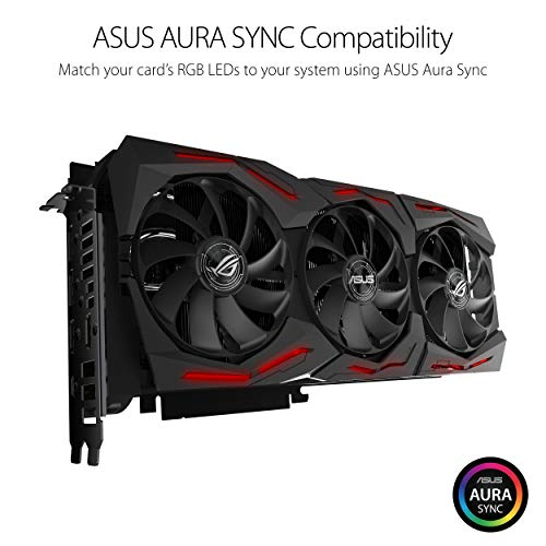 ASUS ROG Strix GeForce RTX 2080TI Overclocked 11G GDDR6 HDMI DP 1.4 USB Type-C Gaming Graphics Card (ROG-STRIX-RTX-2080TI-11G)