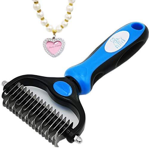 ペット用美容ツ 毛玉取り専用器具 ル-犬や猫に適した毛づくろい除毛結-ステンレスのくしの歯の先がなめらかで快適で安全なマッサージを行って屑を取り除きます毛結櫛脱毛熊手