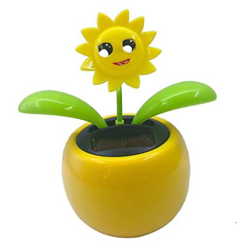 B Blesiya Blumen Wackelfigur Wackel Solar Figur Tanzende Solarwackelfigur Kinder Spielzeug - Sonnenblume 2