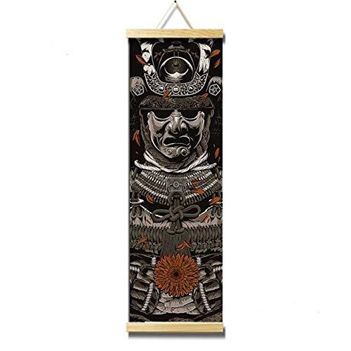 Crewell, hochauflösendes Leinwand-Gemälde, Wall-Art-Poster, Heimdekoration im japanischen Stil, hängendes Bild für Wohn- und Schlafzimmer, D, 30*96cm