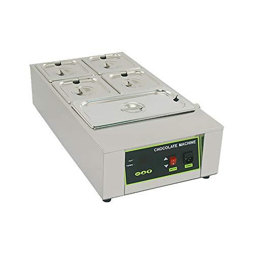 Máquina de templado de chocolate, fundidor de chocolate eléctrico comercial de 1000w,...