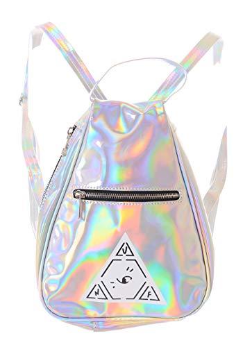 Kawaii-Story LB-145 Illuminati Silber Hologram reflektierend Kult Pastel Goth Lolita Harajuku Tasche Rucksack