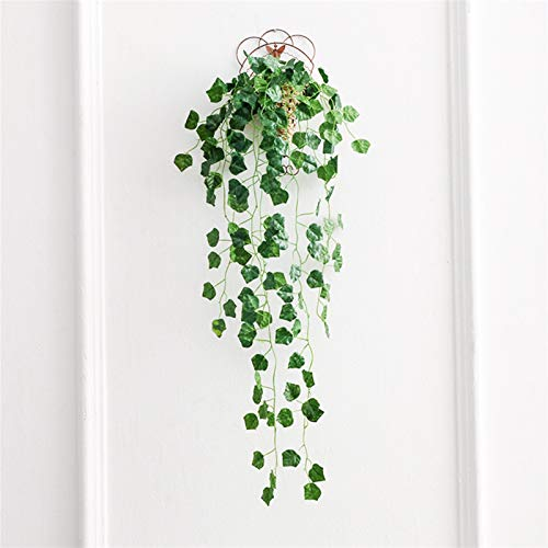 SJHQ Flor Preservada Simulación Verde Flor simulación Hiedra Barra decoración del hogar Planta Verde Colgando Cesta Flores Falsas Flor Artificial (Color : 2)