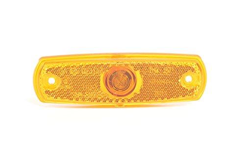 HELLA 2PS 962 964-012 Seitenmarkierungsleuchte - W3W - 24V - Lichtscheibenfarbe: gelb - Einbau - Einbauort: links/rechts