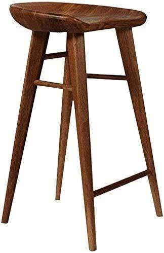 Taburete para piernas Taburetes de barra Simple Solid Wood High Staur Bar Taburete Silla de comedor Silla de comedor Silla de negocios Silla de mesa de recepción Banco Taburete (High55 / 65 / 75cm) Ta