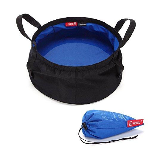 Lavabo ligero y plegable Rayami de 8,5 L, multifunción, con bolsa o...