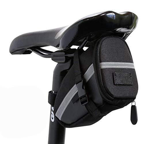 BETOY Satteltasche Fahrradtasche, Kompakte Sattel Tasche 0,6L wasserdichte Fahrradsitz Tasche Radtasche für den täglichen Gebrauch,Rennwagen,Radfahren im Freien, Geschenke für Radfahrer,Schwarz