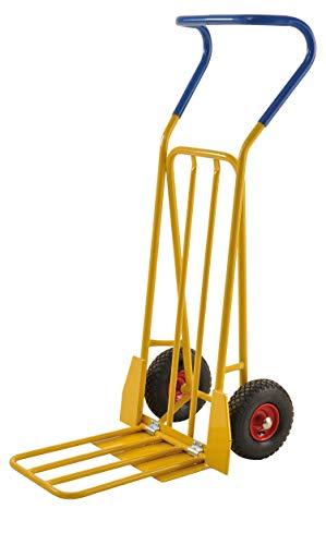 Lagerino Gepäck- & Sackkarre, 780x560x1320 mm, 250 kg Tragfähigkeit, Gelb