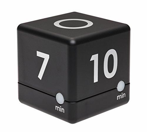 TFA Dostmann Digitaler Cube Timer, Zeitwürfel, Zeitmanagement, 6 x 6 x 6 cm, schwarz, 38.2040.01