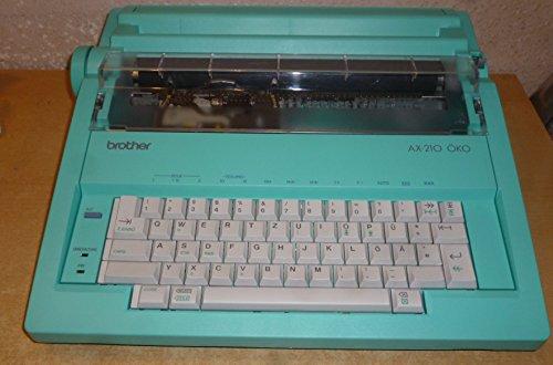Brother AX-210 Öko elektrische Schreibmaschine, türkis, extrem selten