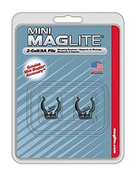 Maglite Crochets de fixation pour lampe Mini R6 Noir