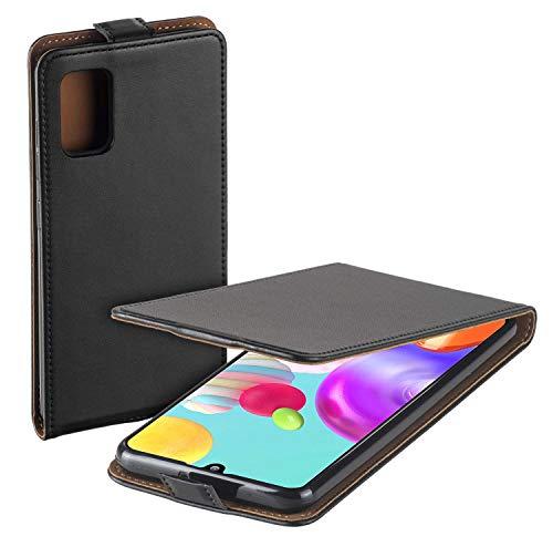 yayago Flip Tasche für Samsung Galaxy A41 Schutzhülle Flip Case Hülle Klapphülle Schwarz
