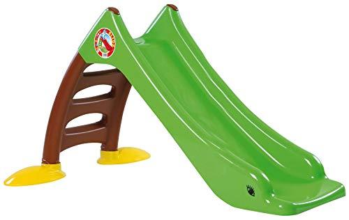 Dohany 2in1 Kinderrutsche Wasserrutsche freistehend Rutschbahn Rutschlänge 120 cm grün/brau