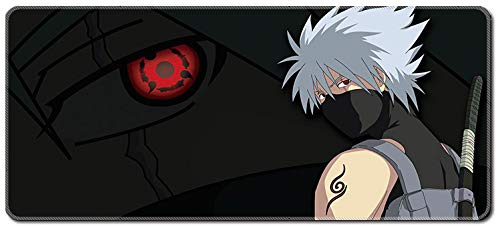 SMAIGE XXL Extended Gaming Mouse Mat / Pad - Large, Wide (Long) Mousepad, Stitched Edges | 31.5'x11.8'x0.08' Dimensions (Naruto-6)